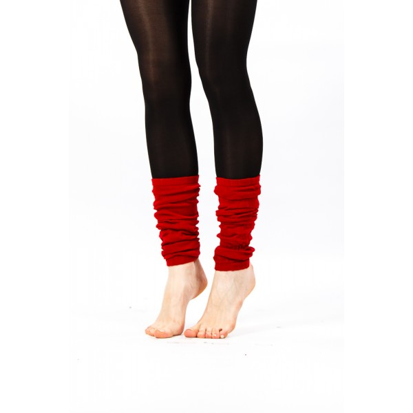 red fabric ankle warmer