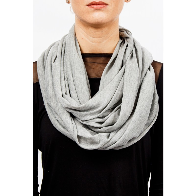 light grey soft cotton snood