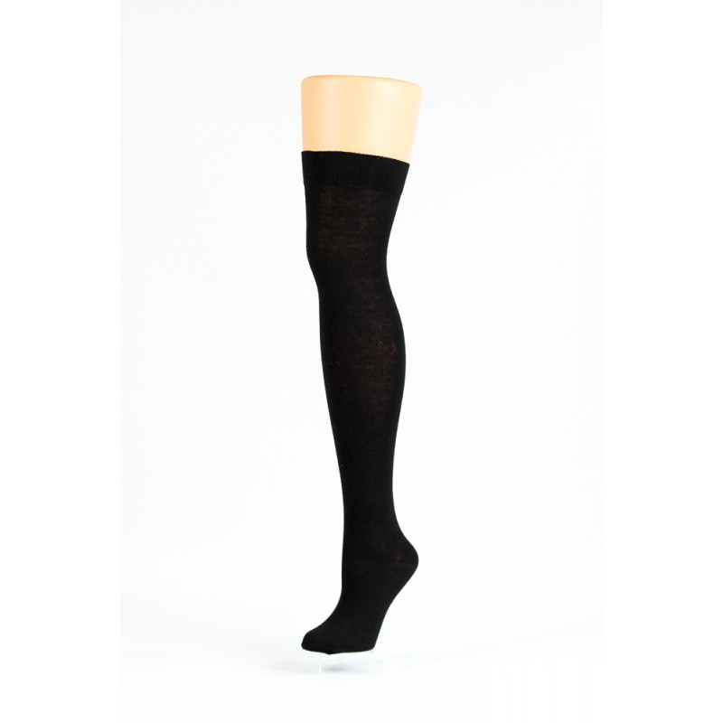 black over-the-knee socks