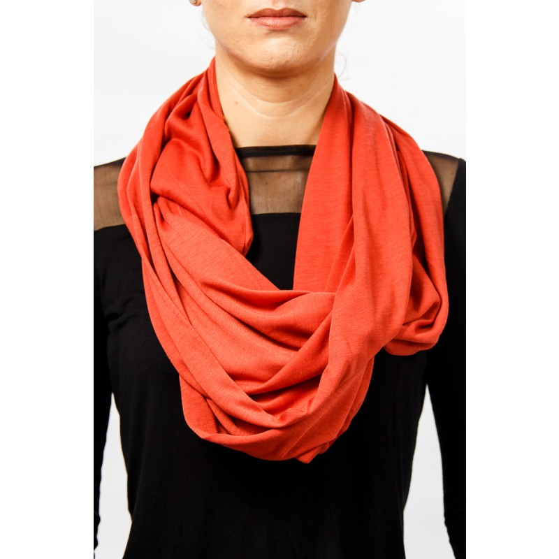 red soft cotton snood