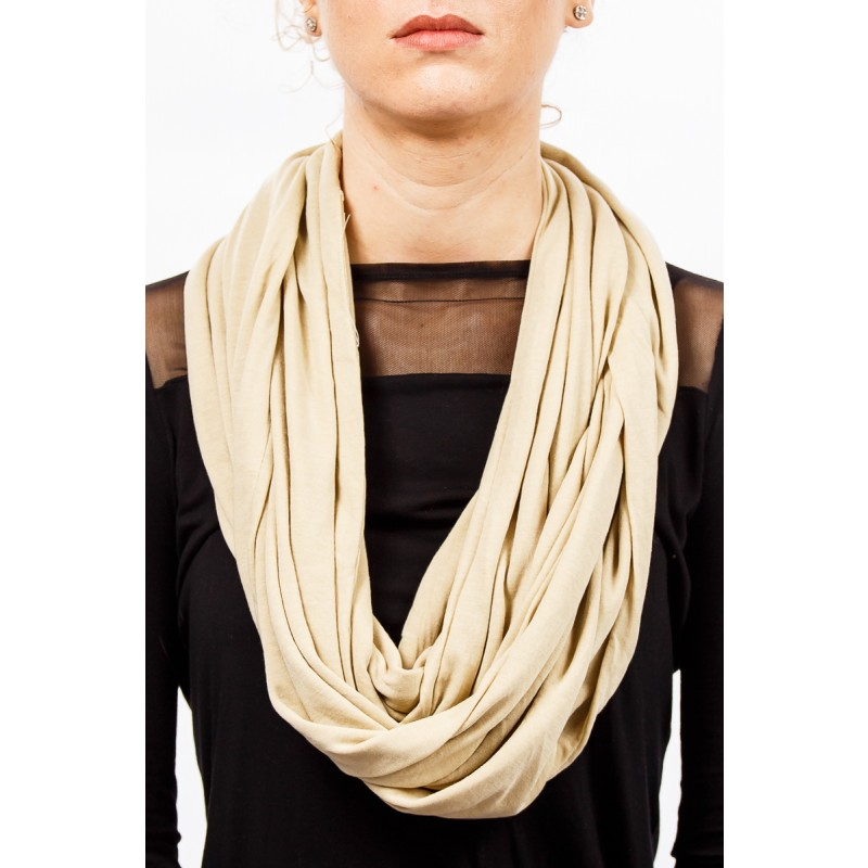 beige soft cotton snood
