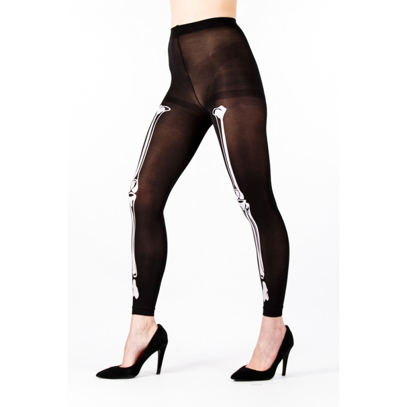 leg bone footless tights