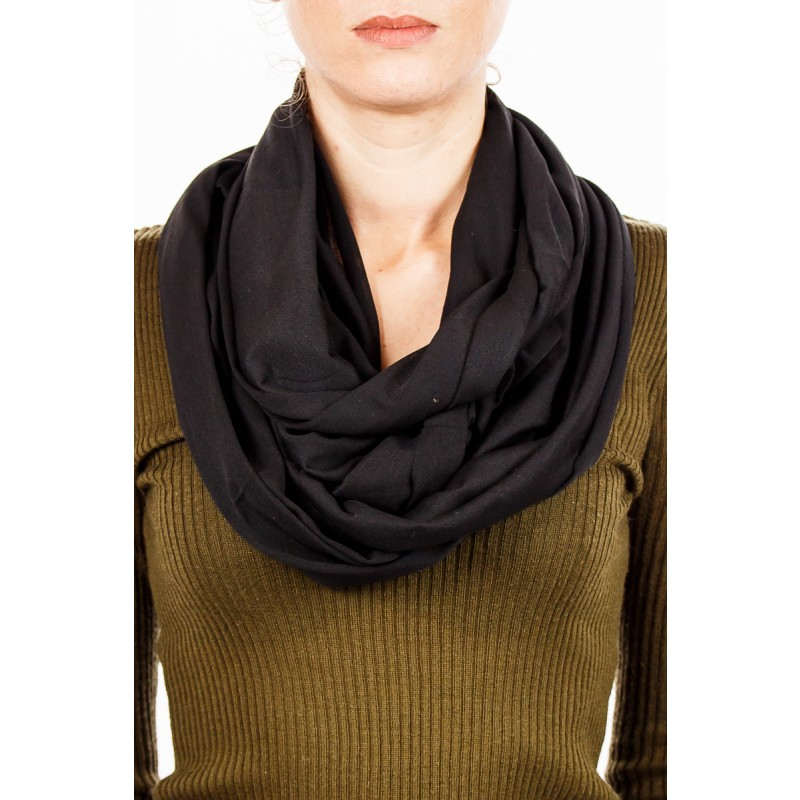 black soft cotton scarf