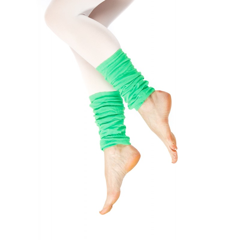 green fabric ankle warmer