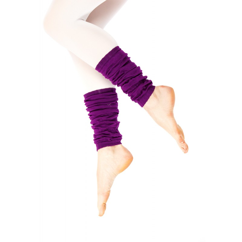 purple fabric ankle warmer